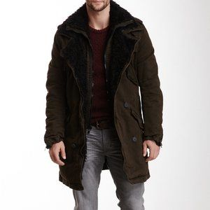 Rogue State Faux Fur Lined Layered Trench Coat